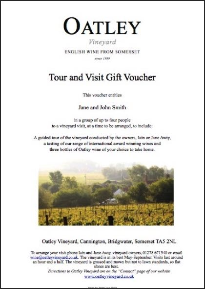 Our popular visit and tasting gift voucher is for up to 4 people